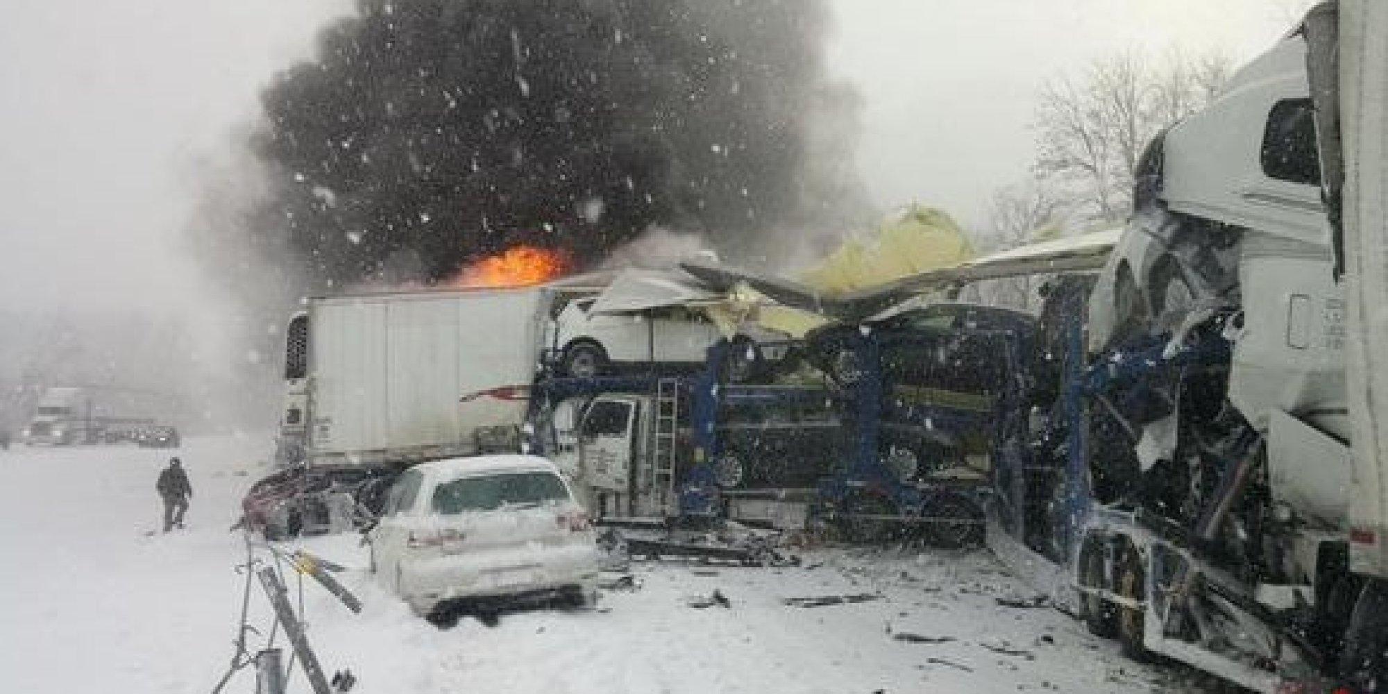 Pile Up Car Accident Michigan