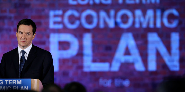 MANCHESTER, ENGLAND - JANUARY 08:  Chancellor George Osborne looks on as Prime Minister David Cameron (not pictured) delivers a speech to business leaders on their long term economic plan at a conference in the Old Granada TV Studios on January 8, 2015 in Manchester, England.  (Photo by Peter Byrne - WPA Pool/Getty Images)