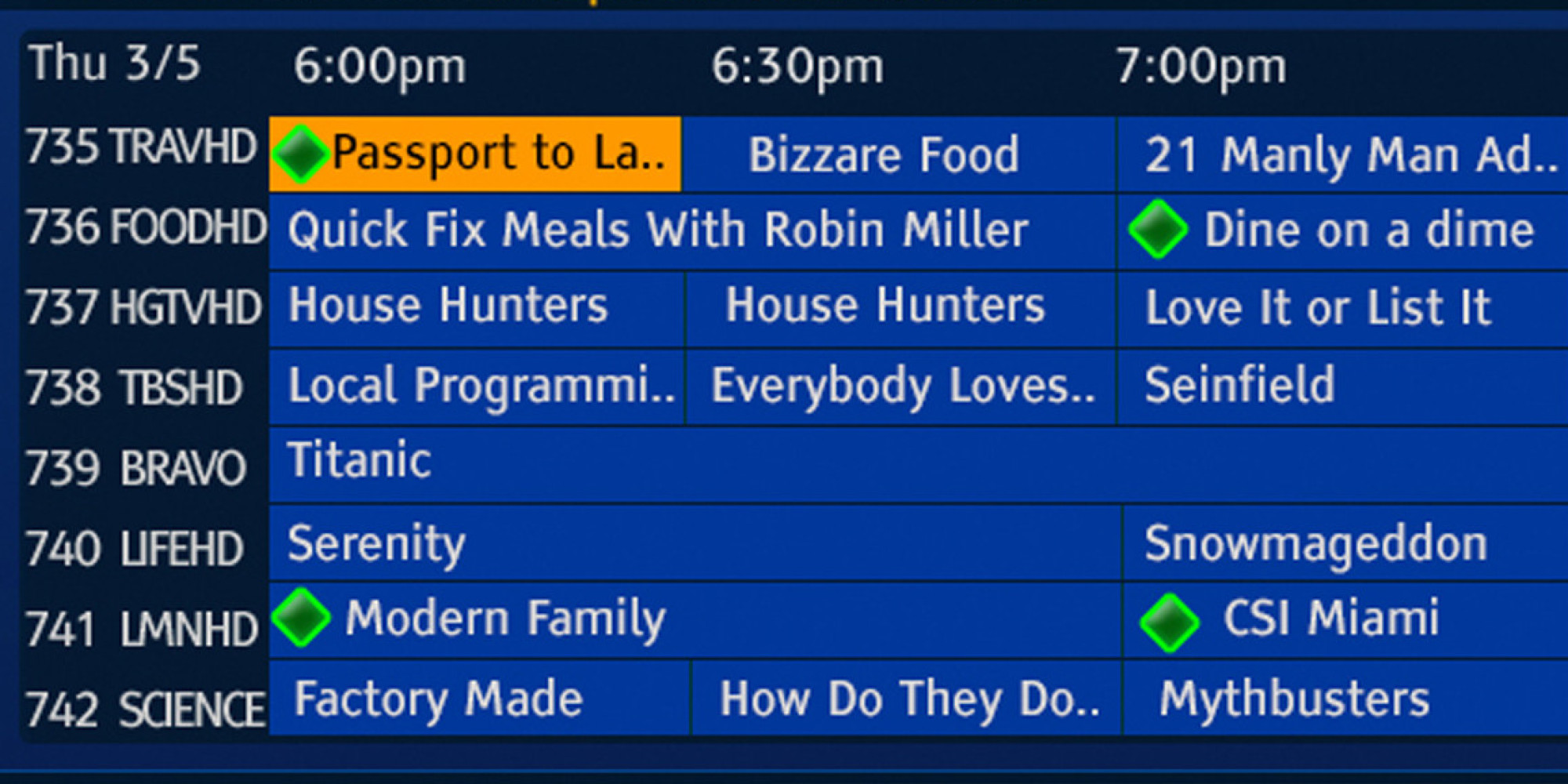 TV Listings for Carbondale, CO | TV Passport
