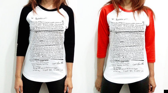 kurt cobain suicide note tshirt