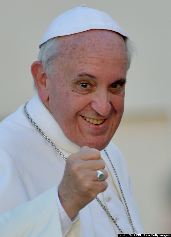 pope francis fist