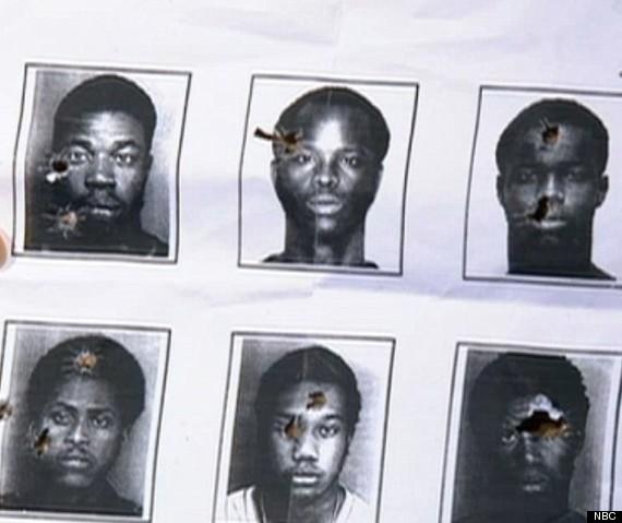 black men used as target practice