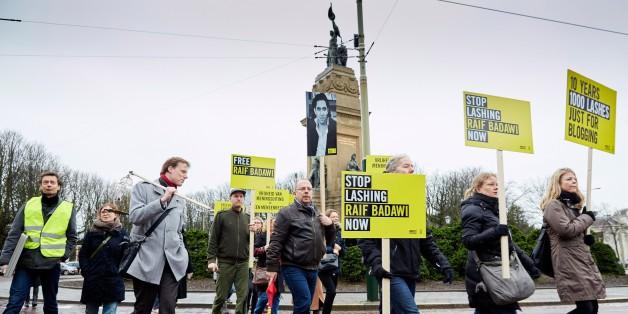 Διαδήλωση υποστήριξης στον Ραΐφ Μπαντάουϊ