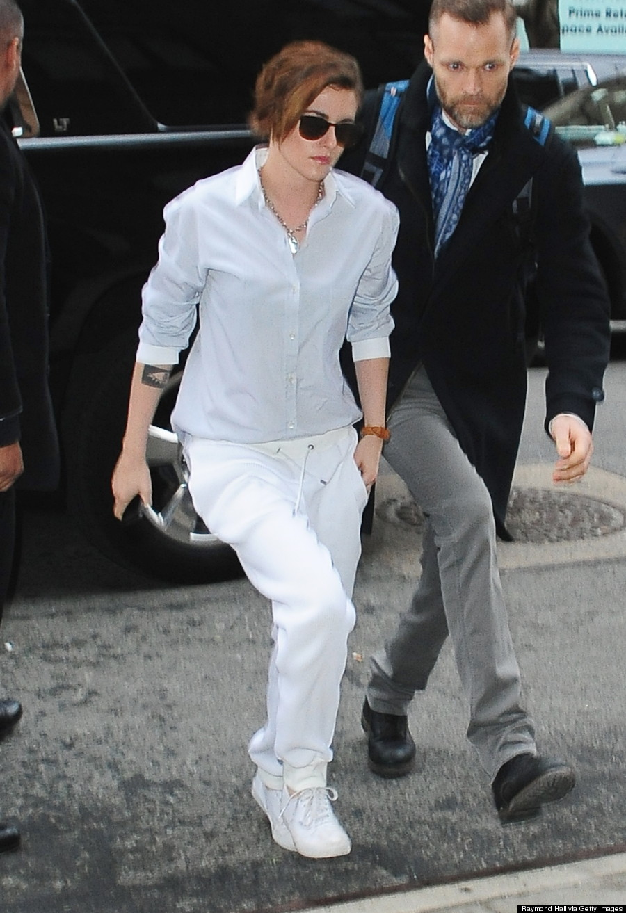 Kristen Stewart Wears Two Menswear Looks In One Day