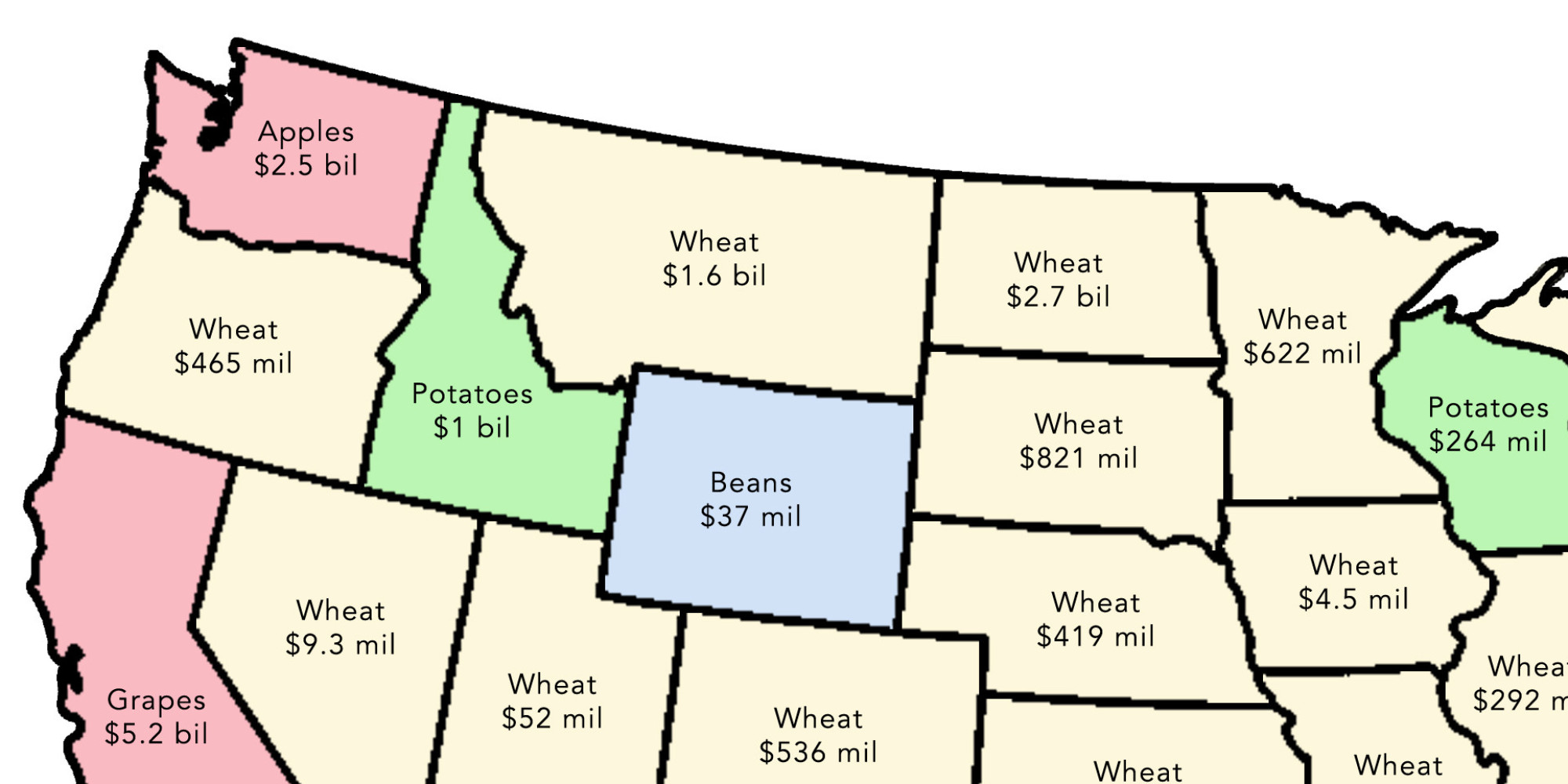Simple Maps That Reveal How American Agriculture Actually Works - Agriculture by state us map
