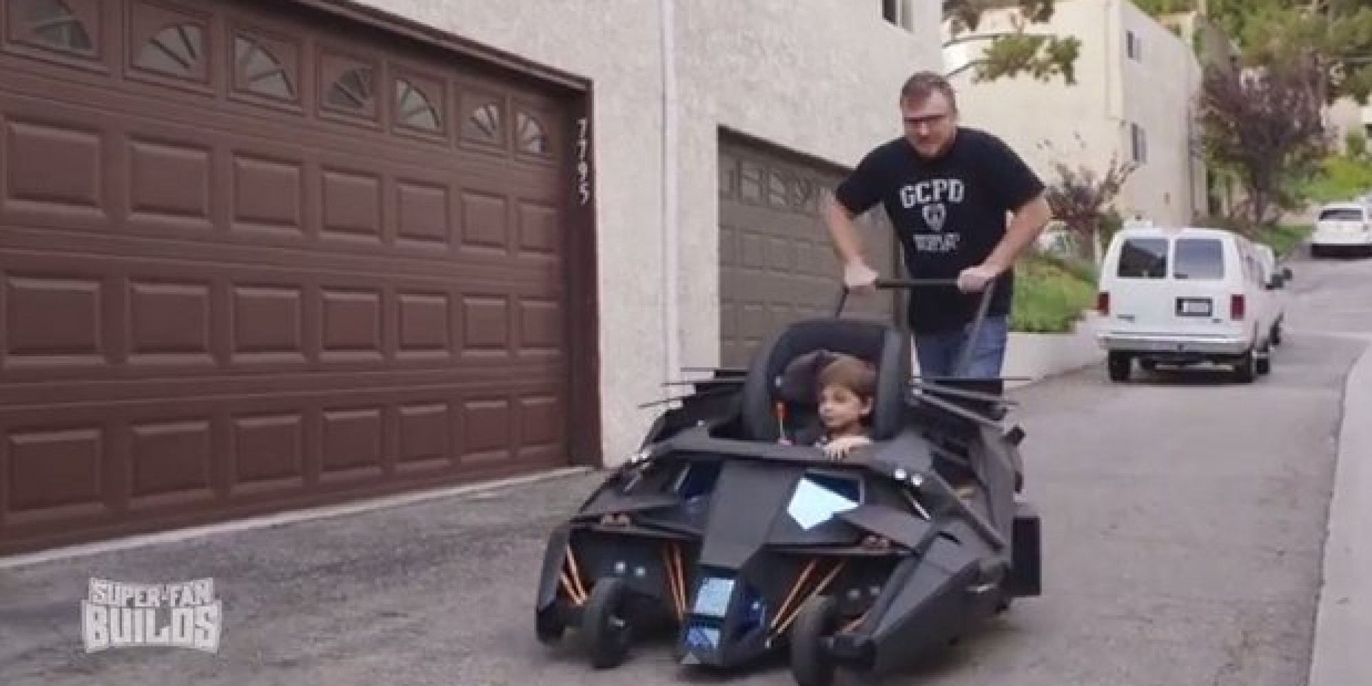 Dark Knight Fanatic Gets Awesome Batmobile Baby Stroller For His Son