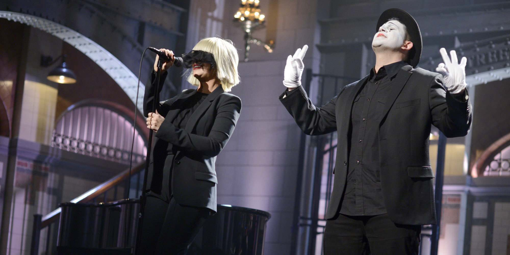 Sias snl mime and sign language in pop music huffpost aloadofball Choice Image