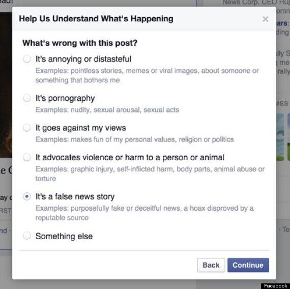 facebook hoax news