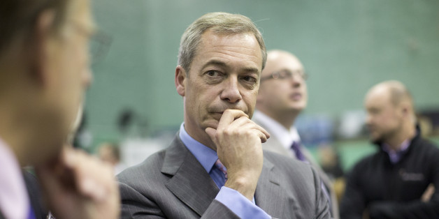 Ukip leader Nigel Farage speaks to the media before the announcement of the final result at the Rochester and Strood by-election.