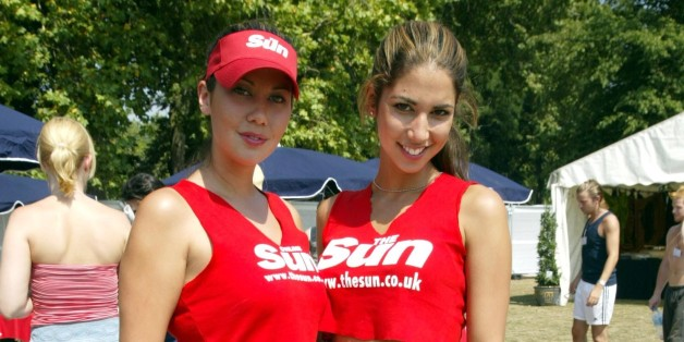 Leilani, glamour model, joins sister Mel and friends at the Sun Footie Festival fundraiser held on Clapham Common in London