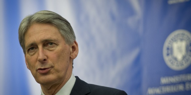 Britain's Foreign Minister Philip Hammond gives a joint press conference with the Romanian Foreign Minister at the Romanian Foreign Ministry headquarters in Bucharest January 14, 2015. AFP PHOTO / DANIEL MIHAILESCU        (Photo credit should read DANIEL MIHAILESCU/AFP/Getty Images)