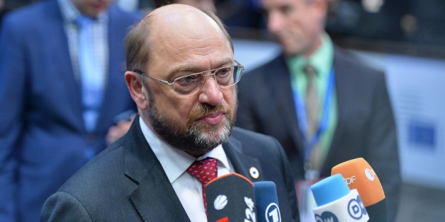BRUSSELS, BELGIUM -DECEMBER 18:  European Parliament President Martin Schulz arrives for the European Council meeting at the European Council headquarters in Brussels, Belgium on December 18, 2014. (Photo by Dursun Aydemir/Anadolu Agency/Getty Images)