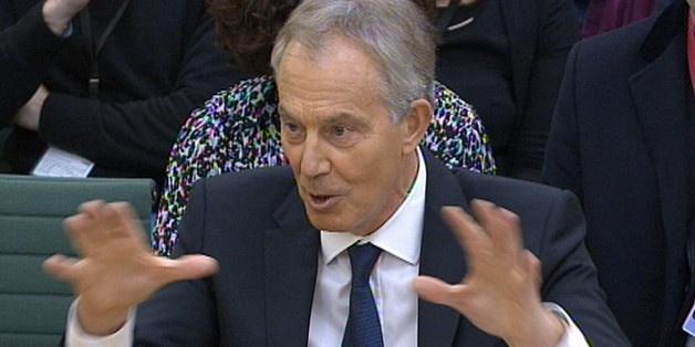 Former Prime Minister Tony Blair answers questions at the parliamentary inquiry at the House of Commons in London, into the 'on the runs' (OTRs) letters and the deal he did with Sinn Fein to secure peace in Northern Ireland.