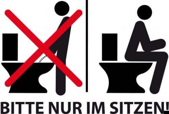 german urinating sign