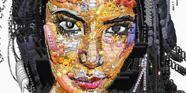 Yung Jack a recréé le portrait de Kim Kardashian en Emojis