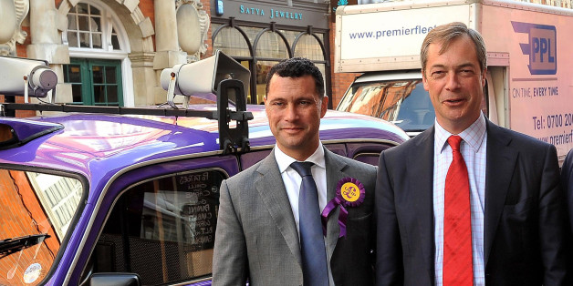 Ukip's migration spokesman Steven Woolfe with party leader Nigel Farage,