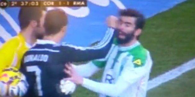 Cristiano Ronaldo boxe un adversaire puis se fait exclure
