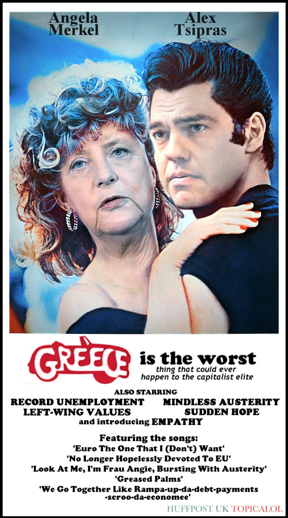 greece grease film poster
