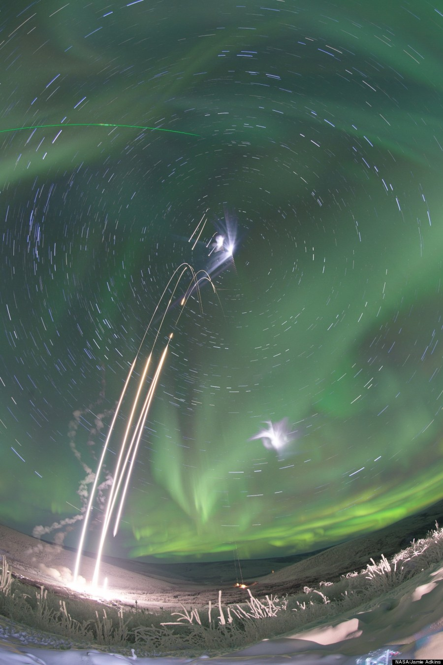 nasa rockets aurora