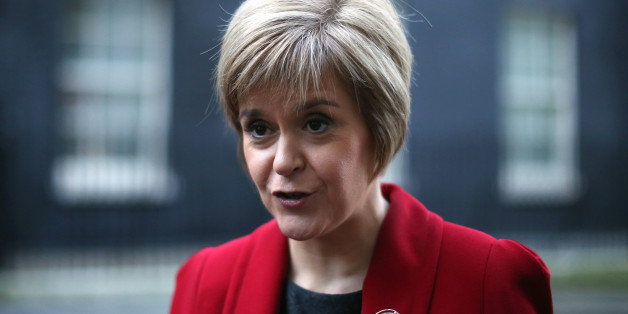 LONDON, ENGLAND - DECEMBER 15:  First Minister of Scotland Nicola Sturgeon speaks to reporters outside 10 Downing Street on December 15, 2014 in London, England. Nicola Sturgeon met with British Prime Minister David Cameron on her first visit to 10 Downing Street since becoming First Minister.  (Photo by Dan Kitwood/Getty Images)