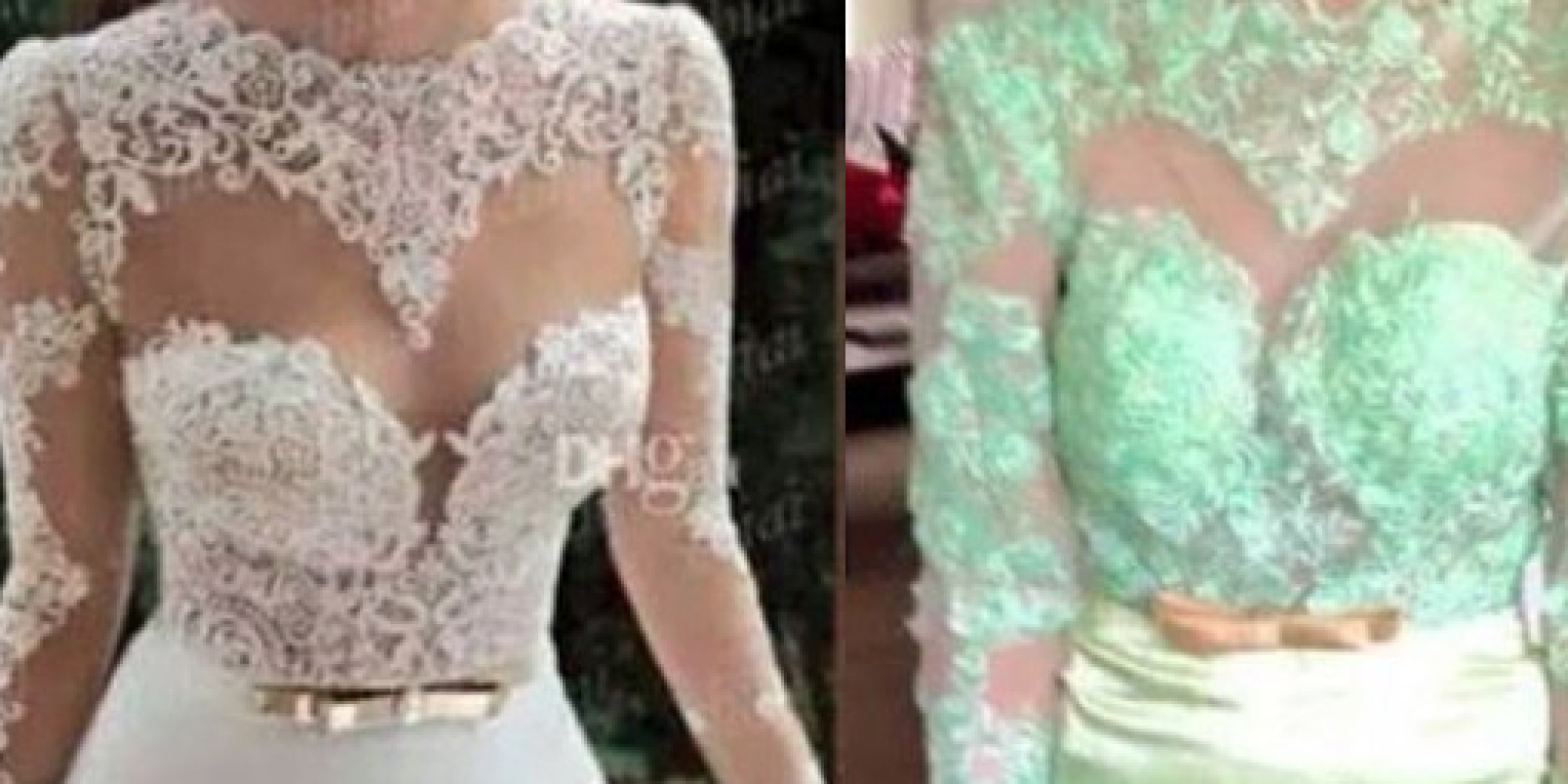 15 wedding dresses ordered online that look nothing like for Buying wedding dress online