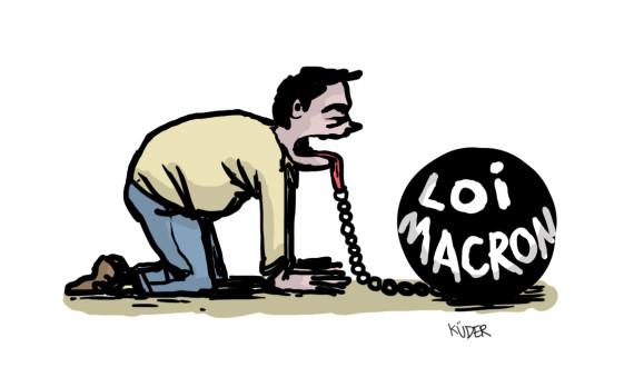 dessin macron journalistes