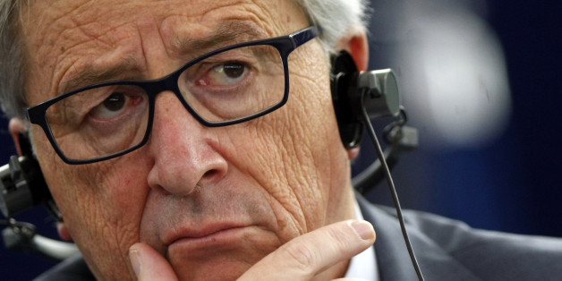 """President of the European Commission Jean Claude Juncker listens to the debates during a session at the European Parliament in Strasbourg, eastern France, Wednesday Dec. 17, 2014. The European Parliament has stopped short of pushing for outright recognition of a Palestinian state, and instead is urging renewed peace talks. Legislators voted 498 to 88 on Wednesday in favor of a compromise resolution supporting """"in principle recognition of Palestinian statehood"""", but as part of a two-state solution. (AP Photo/Christian Lutz)"""