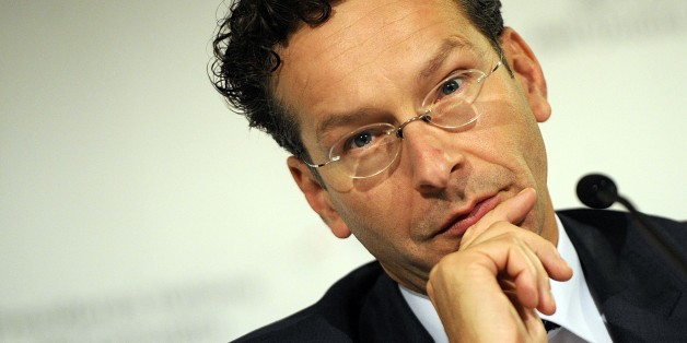 "Chairman of the so-called Eurogroup of finance ministers Jeroen Dijsselbloem speaks at a meeting, in Milan, Italy, Friday, Sept. 12, 2014. Eurozone finance ministers on Friday signaled their support for Draghinomics, backing European Central Bank head Mario Draghi's call for greater structural reforms to ensure investor confidence. Chairman of the so-called Eurogroup of finance ministers Jeroen Dijsselbloem said the European Central Bank's monetary police ""needs to be complemented by a credible"