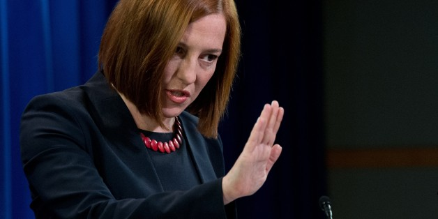 US State Department spokeswoman Jen Psaki speaks at the daily briefing at the State Department in Washington,DC on March 10, 2014. Washington called on Russia to prove that it was willing to act on a series of US proposals aimed at ending the crisis over Ukraine. US Secretary of State John Kerry had laid out a number of ideas to his Russian counterpart Sergei Lavrov and is prepared to take part in further talks 'if and when we see concrete evidence that Russia is prepared to engage on these prop