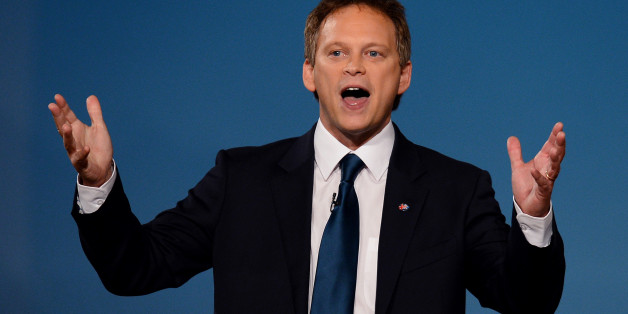 Co-Chairman of the Conservative Party Grant Shapps gestures as he speaks during the opening day of the annual Conservative Party Conference at the ICC in Birmingham, central England on October 7, 2012.  British Prime Minister David Cameron threatened to veto the new European Union budget in a show of tough talking as his Conservative party opened its annual conference.  AFP PHOTO/ANDREW YATES.        (Photo credit should read ANDREW YATES/AFP/GettyImages)