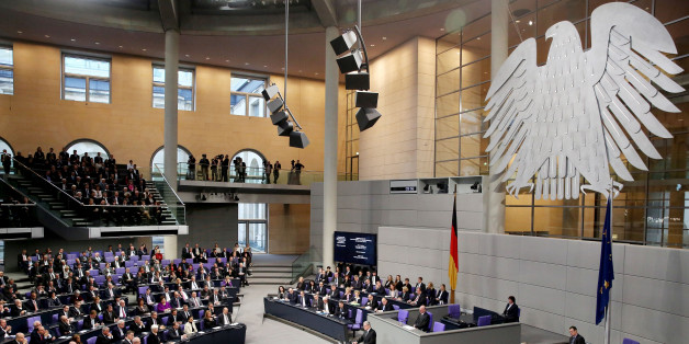 BERLIN, GERMANY - JANUARY 27: German President Joachim Gauck speaks during a commemorative session of the German 'Bundestag' parliament in Berlin on January 27, 2015 to mark the International Holocaust Remembrance Day on the 70th anniversary of the liberation of the Auschwitz-Birkenau Nazi death camp. (Photo by Mehmet Kaman/Anadolu Agency/Getty Images)
