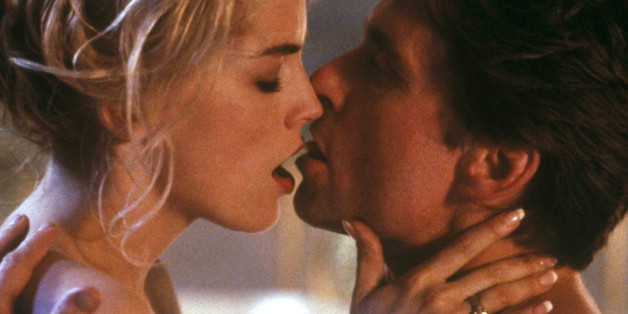 """In this photo provided by Tri-Star Pictures, Michael Douglas and Sharon Stone are shown in the film """"Basic Instinct,"""" 1992.  (AP Photo/Tri-Star Pictures)"""