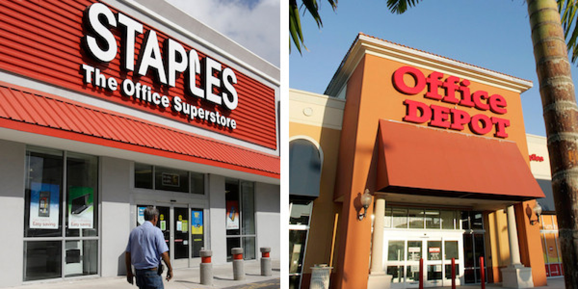 staples office depot in advanced merger talks wsj huffpost. Black Bedroom Furniture Sets. Home Design Ideas
