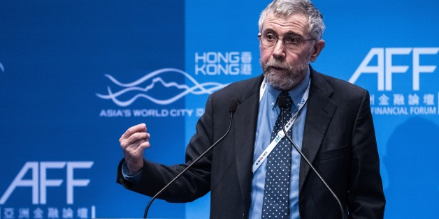 Nobel Prize-winning economist Paul Krugman delivers a speech at the Asian Financial Forum in Hong Kong on January 20, 2015. The Asian Financial Forum 2015 is held under the theme 'Asia: Sustainable Development in a World of Change'.  AFP PHOTO / Philippe Lopez        (Photo credit should read PHILIPPE LOPEZ/AFP/Getty Images)