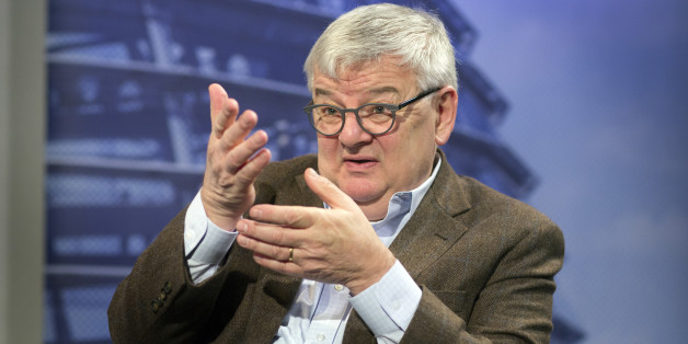 BERLIN, GERMANY - OCTOBER 04: An interview with Green Party member, Joschka Fischer, pictured on October 04, 2013 in Berlin, Germany. (Photo by Thomas Koehler/Photothek via Getty Images)