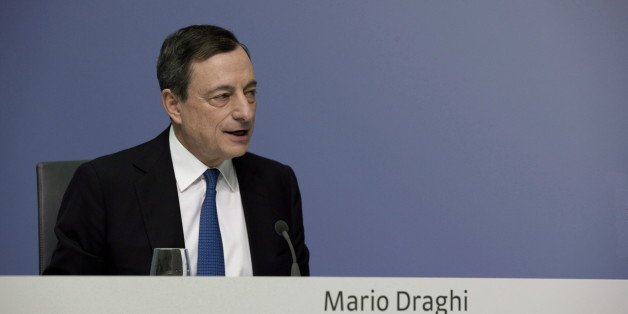 GERMANY, FRANKFURT - JANUARY 22:Mario Draghi, president of the European Central Bank (ECB), during the press conference in Frankfurt, on January 22, 2015 in Frankfurt, Germany. (Photo by Ulrich Baumgarten via Getty Images)