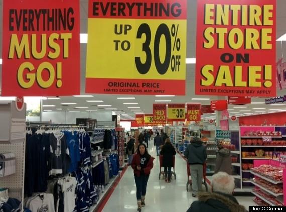 target canada liquidation sale
