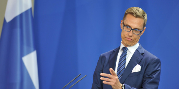 BERLIN, GERMANY - SEPTEMBER 29:  Finnish Prime Minister Alexander Stubb holds a press conference at the chancellery in Berlin, Germany, on September 29, 2014. (Photo by Cuneyt Karadag/Anadolu Agency/Getty Images)