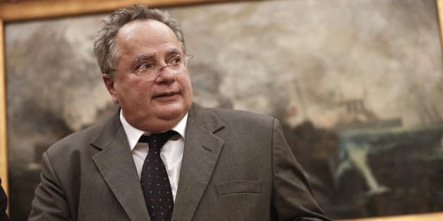 Ο Έλληνας υπουργός Εξωτερικών, Νίκος Κοτζιάς