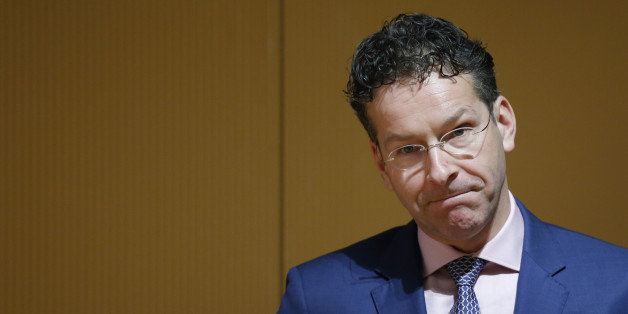 Jeroen Dijsselbloem, Dutch finance minister and president of the Eurogroup, pauses while delivering a lecture at Keio University in Tokyo, Japan, on Tuesday, Jan. 13, 2015. Europe needs structural reforms, similar to the the 'third arrow' policies in Japan of Prime Minister Shinzo Abe, Dijsselbloem said. Photographer: Kiyoshi Ota/Bloomberg via Getty Images