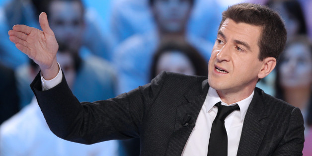 French banker Matthieu Pigasse, managing director of Lazard France bank and major shareholder of French daily paper 'Le Monde' group, gestures as he participates in the TV broadcast show 'Le Grand Journal' on Canal Plus channel, on March 13, 2012 in Paris.  AFP PHOTO/JACQUES DEMARTHON (Photo credit should read JACQUES DEMARTHON/AFP/Getty Images)