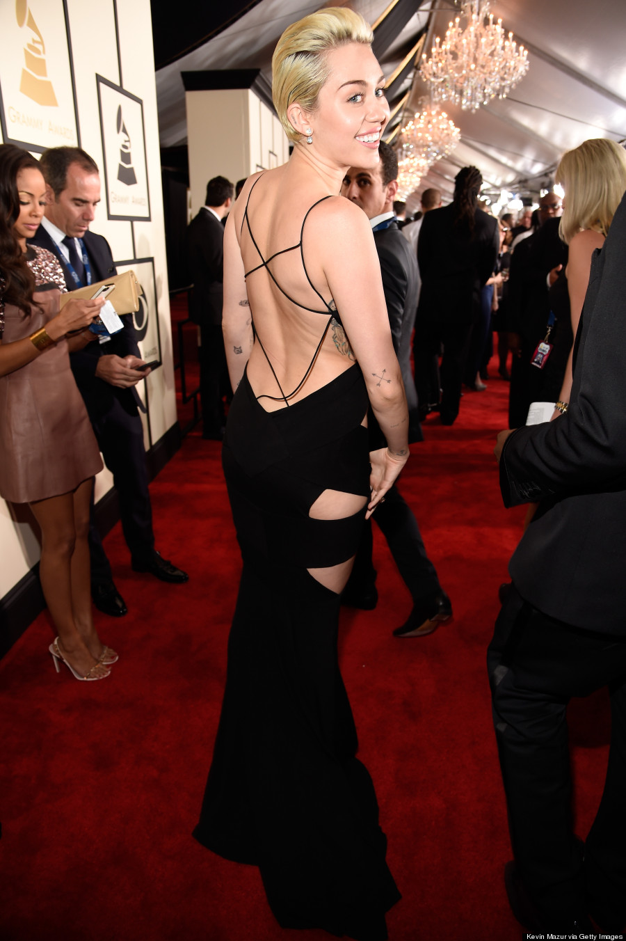 Miley Cyrus' Grammys 2015 Dress Is Ridiculously Sexy ...