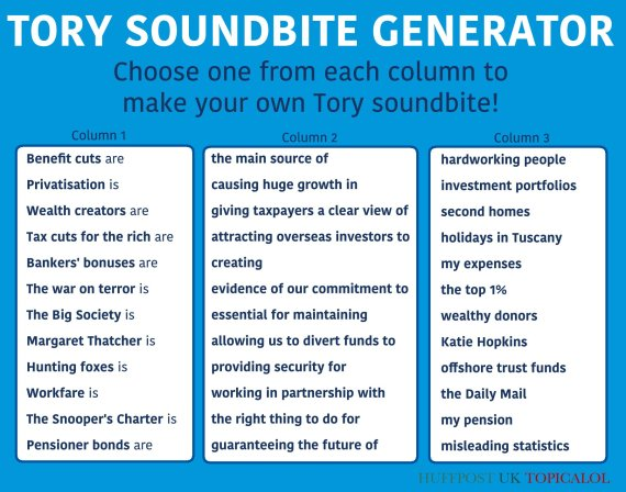 tory soundbite generator