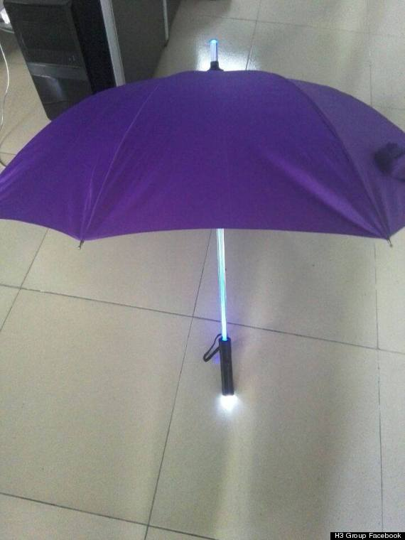 led light umbrella