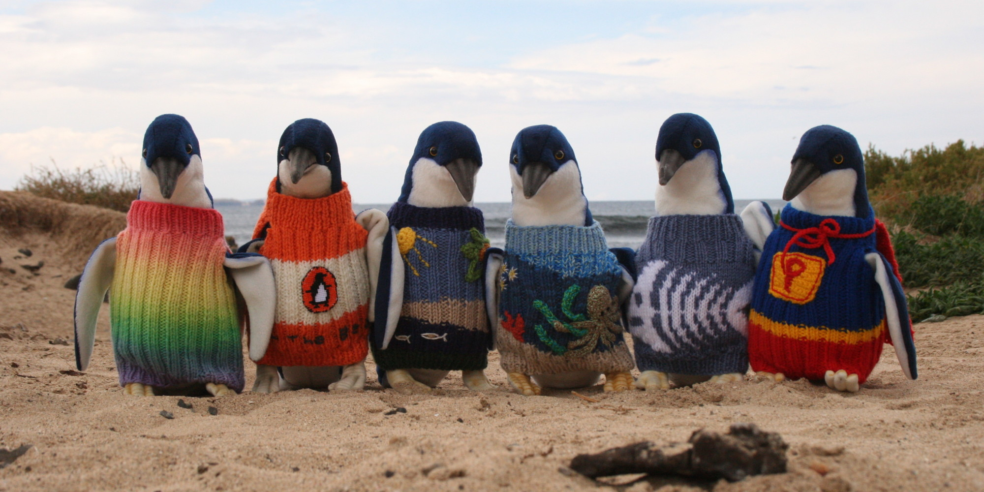 Australia\u0027s Oldest Man Knits Tiny Sweaters For Penguins Injured In Oil  Spills