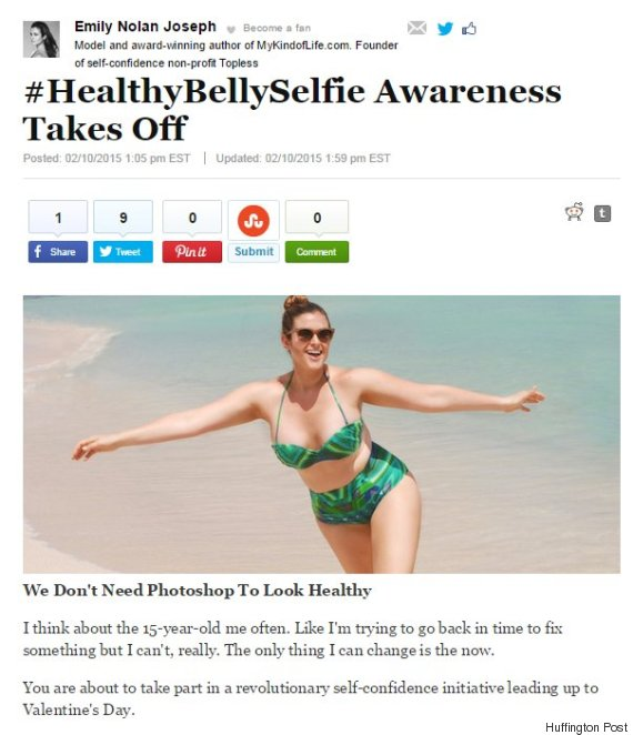 healthy belly selfie