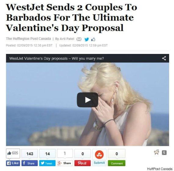 westjet proposal