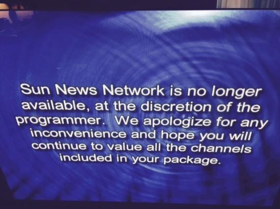 sun news shutdown