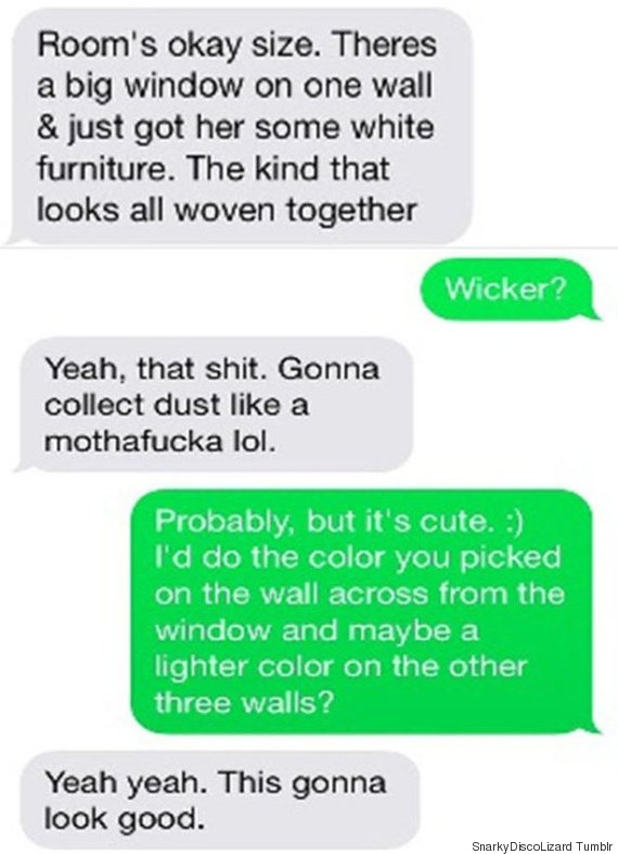 Dad Sends Text About Painting His Daughter's Room Blue To Wrong Number And The Response Is Brilliant