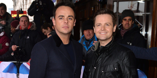 LONDON, ENGLAND - FEBRUARY 11:  Anthony McPartlin and Declan Donnelly attend the London auditions for Britain's Got Talent at Dominion Theatre on February 11, 2015 in London, England.  (Photo by Anthony Harvey/Getty Images)